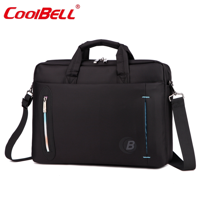 CoolBell 15.6 inch Laptop Bag With strap Messenger Bag Single-shoulder Handle bag Briefcase Nylon Waterproof Laptop Briefcase targus tst59604 gray black geo slim 15 6 inch laptop case with handle and shoulder strap