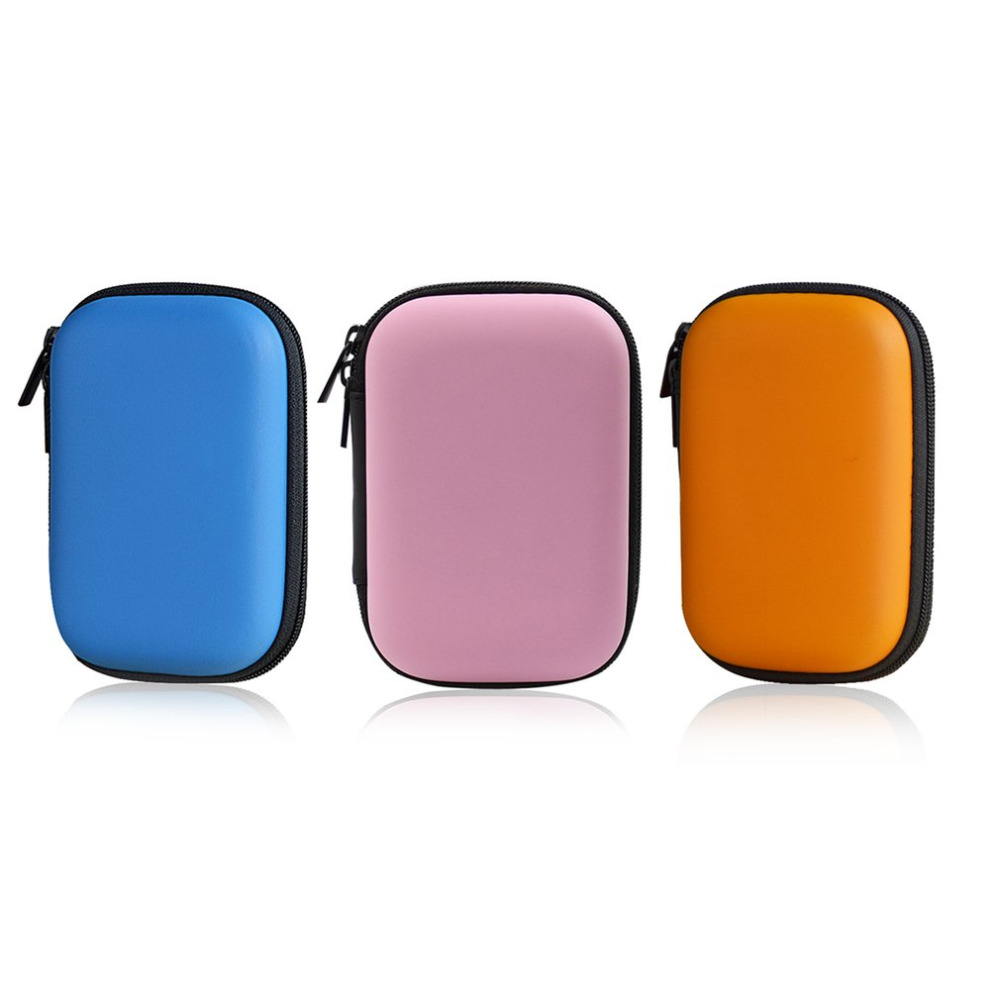 2017 Compact Size Multifunctional EVA Power Bank Hard Disk Storage Case Bag Shockproof Carrying Storage Case Box With Zipper