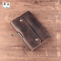Handmade Leather Cowboy Traveller Notebook A6 Loose Leaf Diary Retro Notebook Original Gift