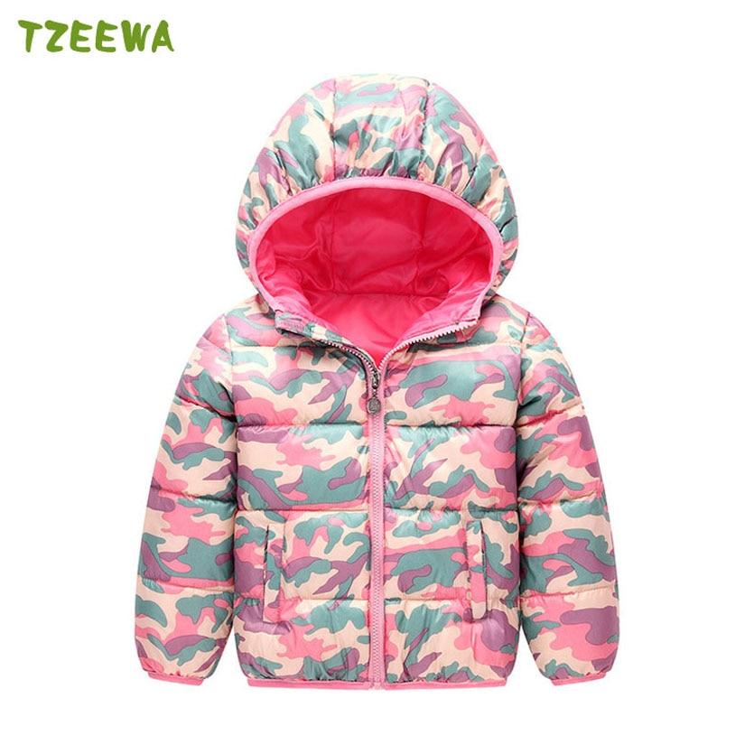Girl Winter Jacket Coat Camouflage Boys Coat Cotton-Padded Children Clothing Kids Coat Jacket For Girl Manteau Fille Hiver