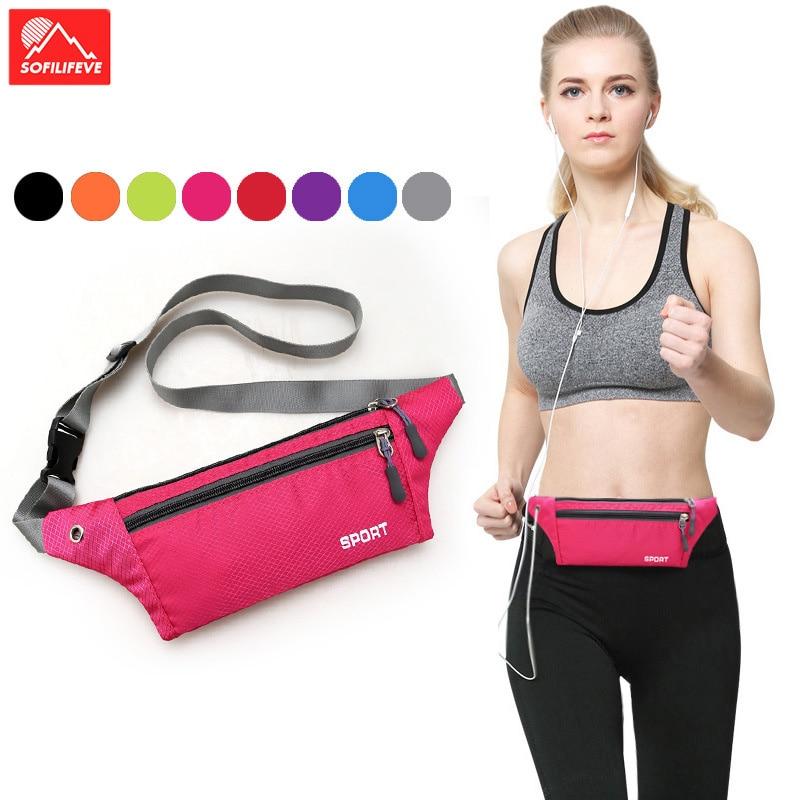 Fitness Outdoor Running Waist Bag Waterproof Sports Chest Shoulder Bags Pouch Unisex Hiking Belt Riding Packs