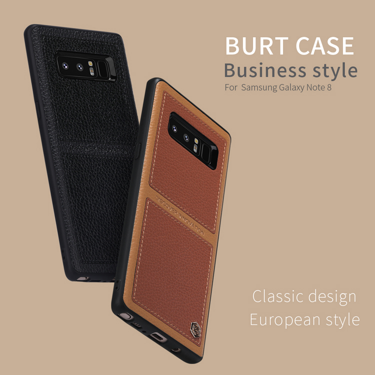 For Samsung Galaxy Note 8 case Brand NILLKIN Burt Business Style Leahter Phone case For Samsung Galaxy Note 8 Bumper Case