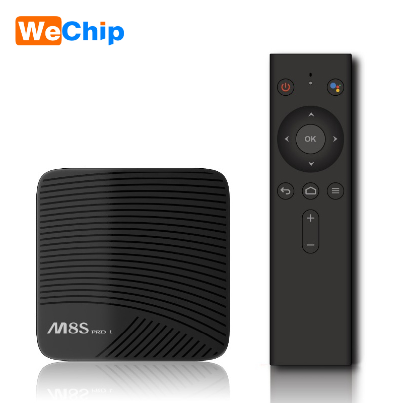 M8S PRO L 4 K Android TV Box 7.1 Smart TV Box Amlogic S912 Cortex-A53 CPU set top box Bluetooth 4.1 + HS Avec Commande Vocale h96