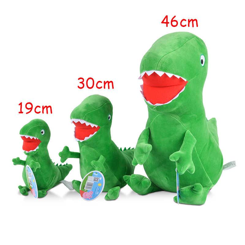 Original Marca Peppa Pig Kawaii Stuffed Animal Plush Toy 19/30/46 cm George Porco Boneca Dragão Crianças Brinquedos Presente de natal Para O Bebê