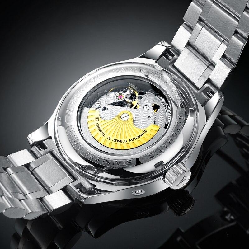 Karneval Männer Automatische Uhr Energie Display Kurze Kleine Sekunden Zifferblatt Datum Luxus Mechanische Uhr - 5