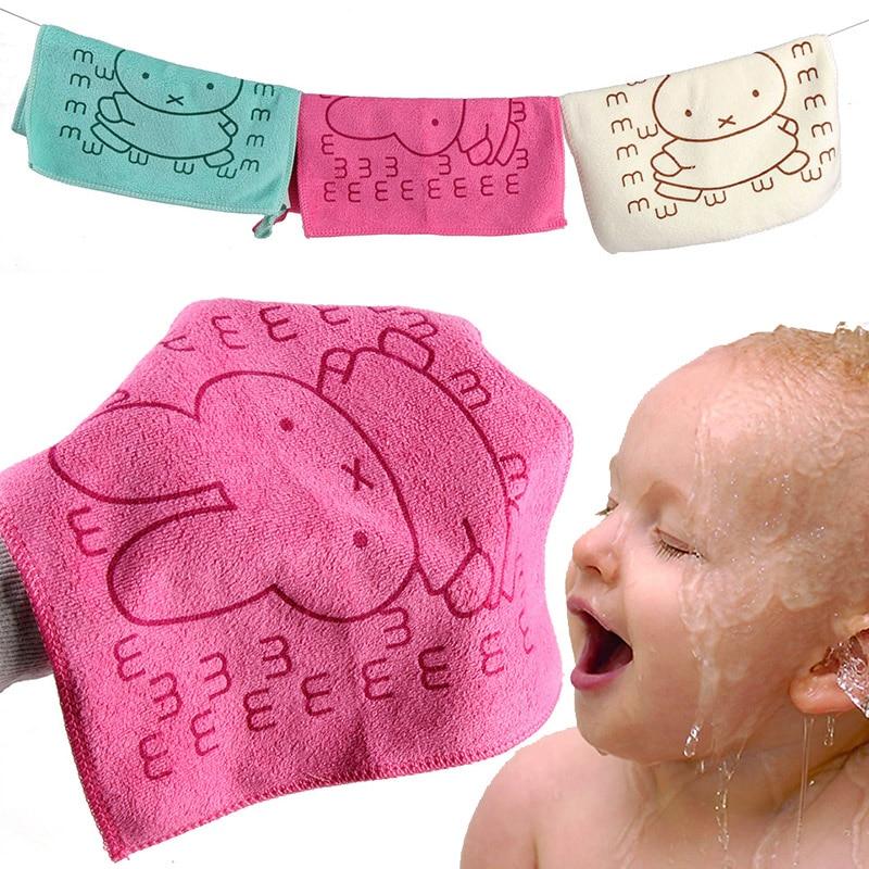 25 25cm Cute font b Baby b font Towel Face Microfiber Absorbent Drying Bath Beach Towel