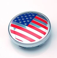 4pcs 60mm Emblem Badge Sticker Wheel Hub Caps Center Cover Flag USA American For GMC FORD