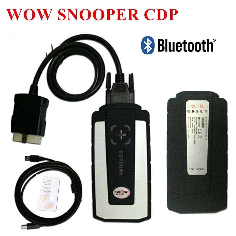 2019 WOW Snooper z Bluetooth Wurth WOW CDP Pro plus OBD2 skaner dla delphi  narzędzie diagnostyczne nowy VCI vd ds150e cdp pro