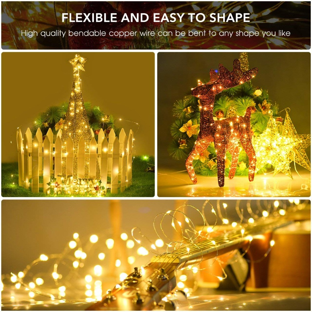 New Year light LEDs Outdoor  solar String Lights Fairy Holiday Christmas Party Garlands Solar Garden Helloween Decoration 11