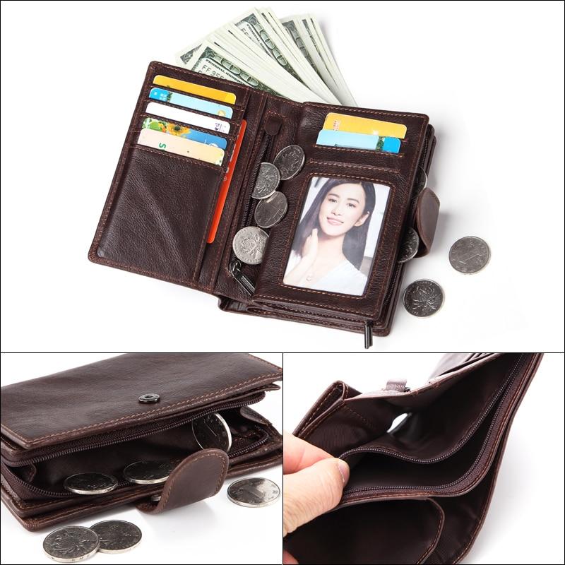 Image 5 - MISFITS Mens Wallets Genuine Leather Passport Holder Wallet Man Vintage Cowhide Passport Cover Brand Male Zipper&Hasp Coin Pursebrand pursepurse brandmen wallet genuine -