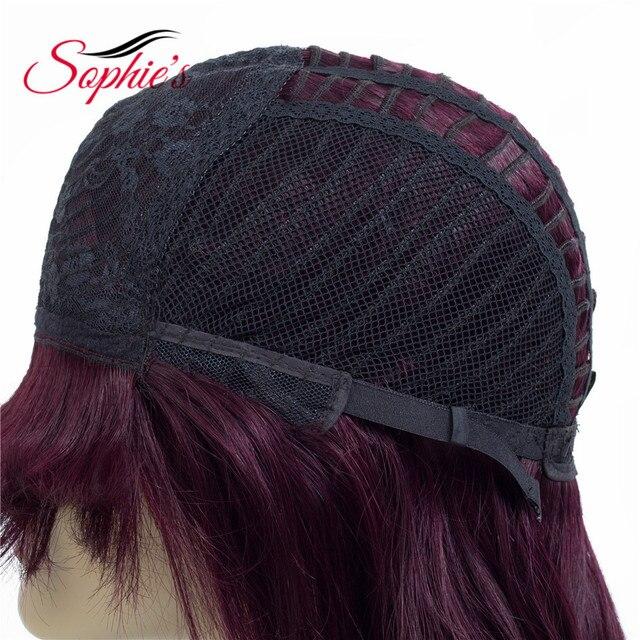 Pelucas rectas de Sophie, cabello humano brasileño Remy para mujeres, 100% cabello humano hecho a máquina, sin olor, 10 pulgadas, 1B ,# 4,99J