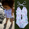2-6Y Baby Girls Swimwear Flower Design One-piece Swimsuit Child Bikini Children Bathing Suit Little Kids Swim Wear bebe meninas