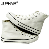JUP Shoes Mens Women Girls Hand Painted Canvas White High Low Shoe Multi Color Laces Lazy