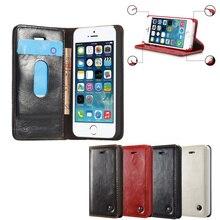 Правда Кожа Celular Для iPhone 5 5S SE Качества Откидная Крышка дело 5 S SE я Телефон iPhon 5 Коке Fundas Черный коричневый