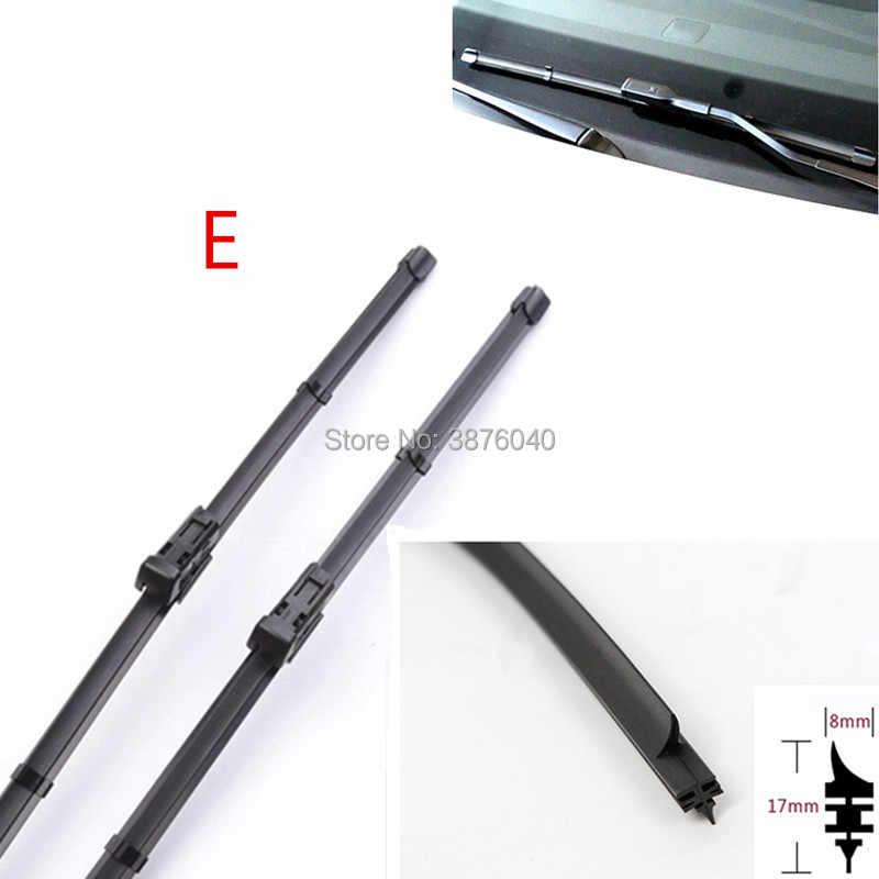 จัดส่งฟรีรถ Wipers กระจกใบมีด (Refill) สำหรับ AUDI TT A1 A2 A3 A4 A5 A6 A7 A8 Quattro allroad Q3 Quattro Q5 Q7 รถ Wiper