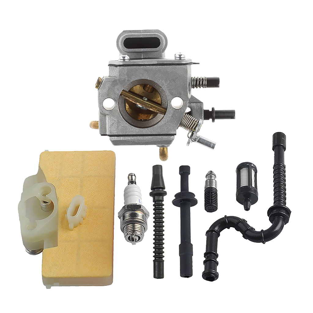 Carburetor with Air Filter Fuel Line Kit for STIHL MS290 MS310 MS390 029 039 46mm cylinder piston ring craftsman kits for stihl 029 039 ms290 ms310 ms390 chainsaw with spark plug oil fuel line filter