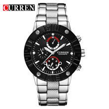 2016 CURREN Top Brand Business Men Male Luxury Watch Casual Full steel Wristwatches Quartz Watches relogio