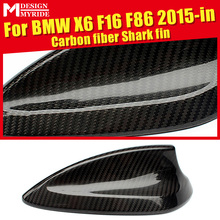 Fit For BMW F16 Carbon Fiber Antenna Cover X-Series X6 F16 F86 X6M X5 F15 2015-in Carbon Shark Fin Auto Roof Antenna Decoration цена 2017