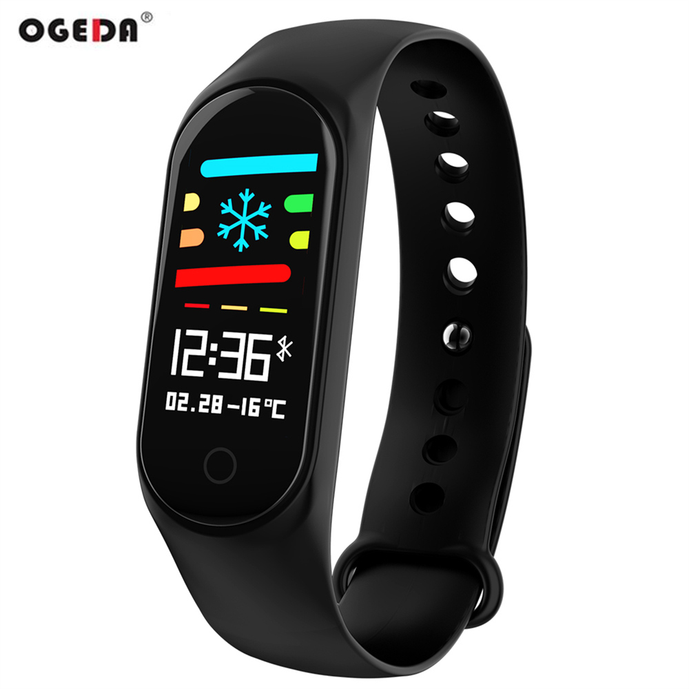 OGEDA Sport Hommes Montres Intelligentes Pulse Fitness Tracker Montre LED Numérique Écran Couleur Bracelet 30 m Étanche Bluetooth M3S Horloge