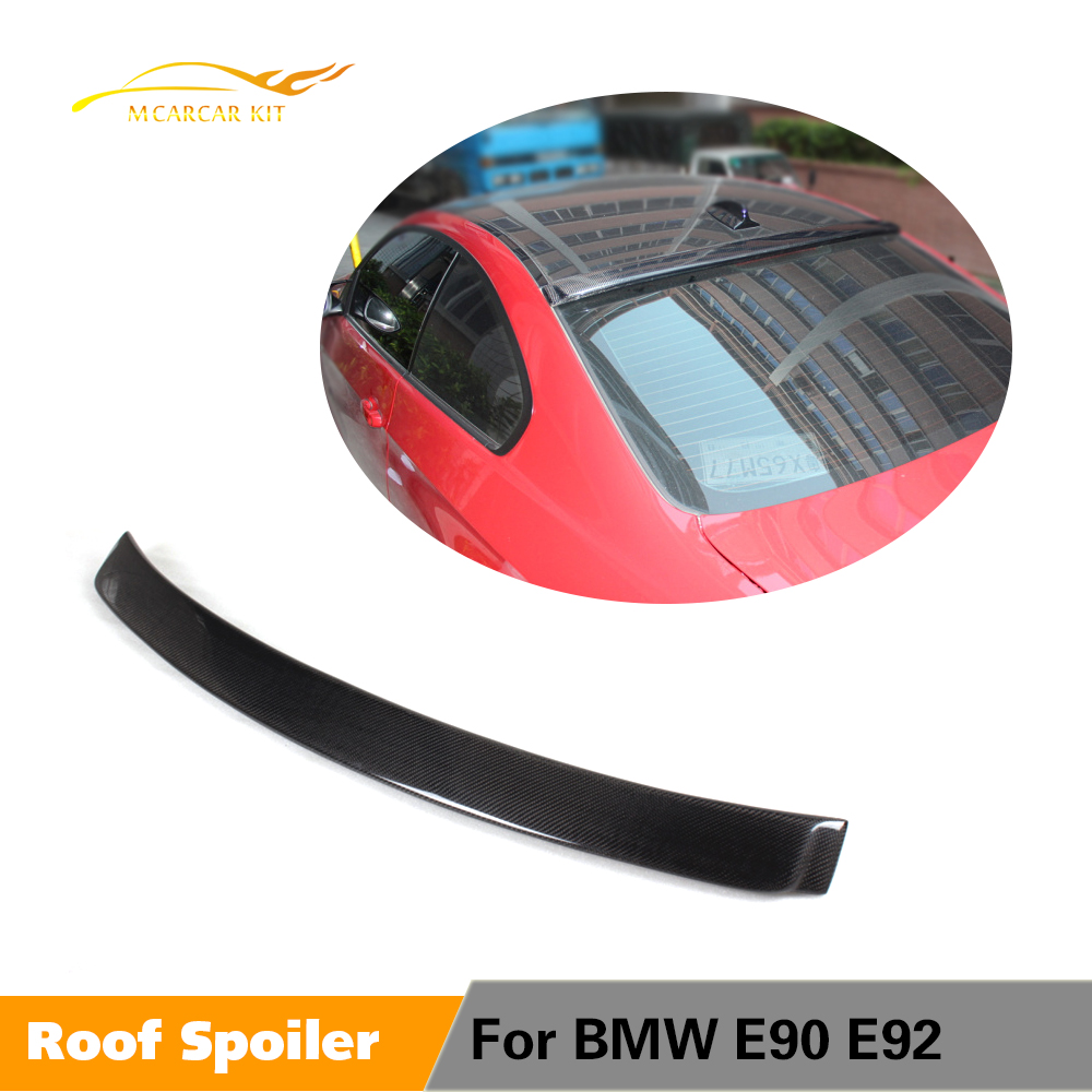 Carbon Fiber Rear Roof Spoiler Wing Top Lip Fit for BMW 3 Series E90 2005-2012