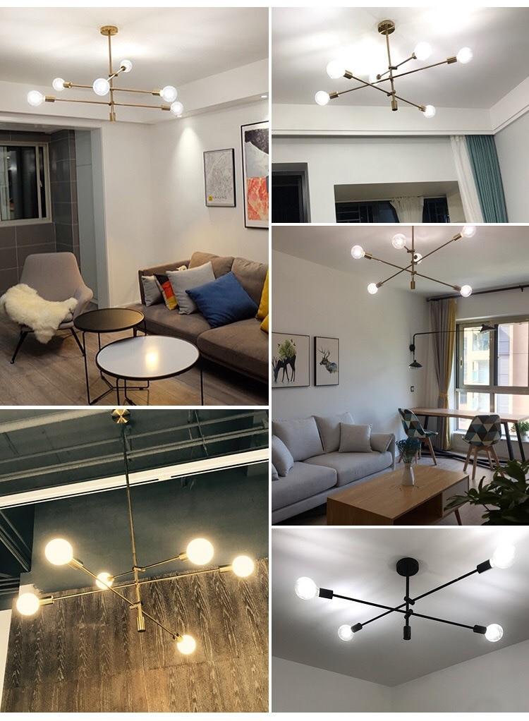 Nordic living room lamps post-modern minimalist pendant lights personality  creative bedroom dining room sputnik tube lamp