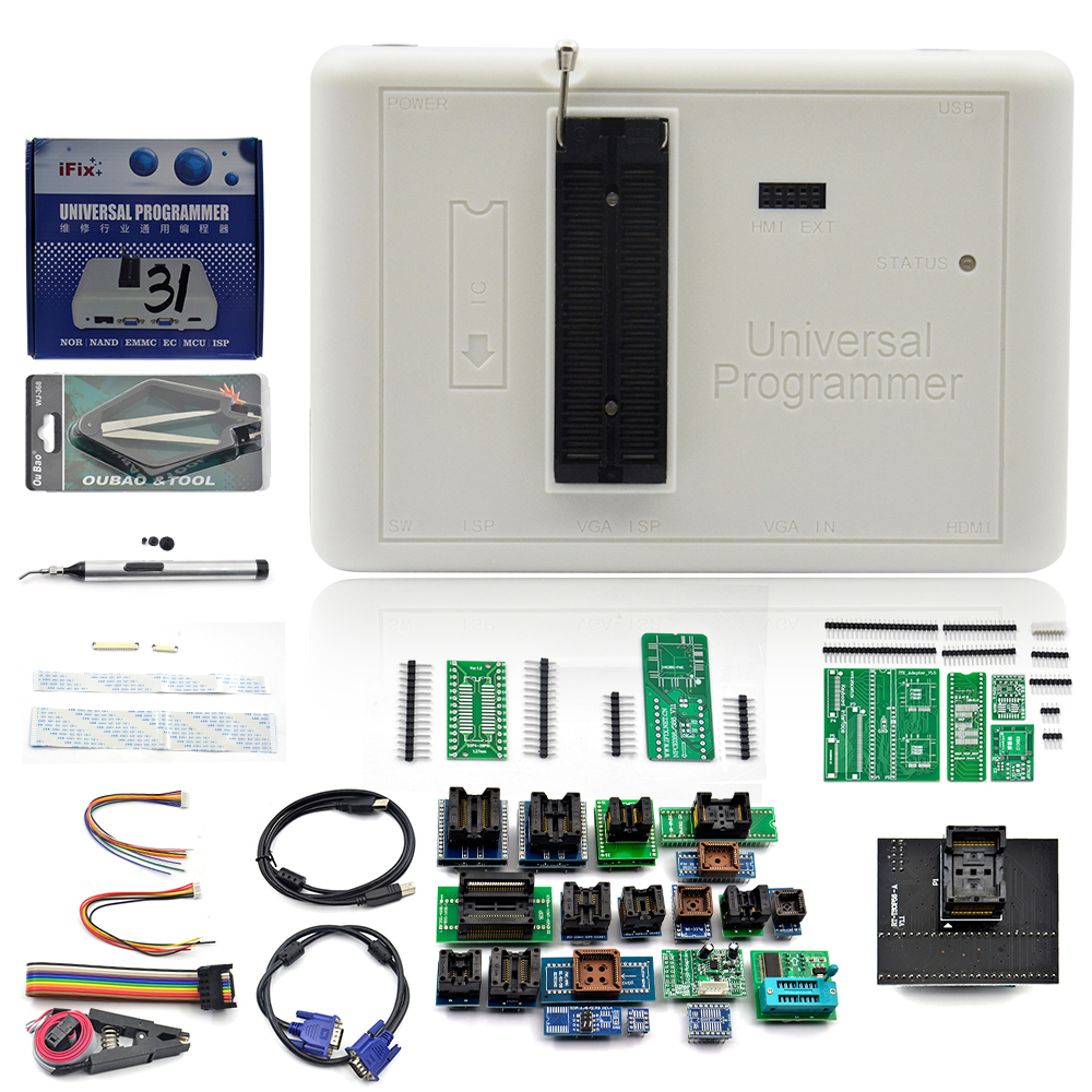 100% Original RT809H Programmer EMMC-Nand Extremely Fast Universal Programmer +35 Items+Edid Cable +Sucking Pen