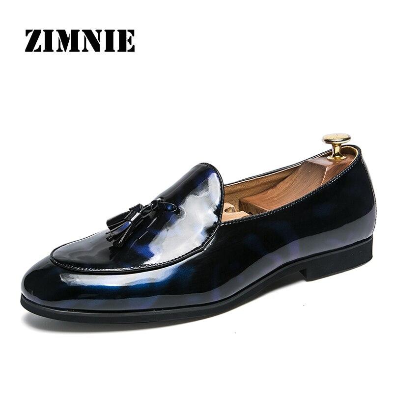 ZIMNIE Brand Italian Style Business Office Party Men Shoes Men Formal Dress Oxfords Wedding Shoes Footwear Plus Big Size 38~47