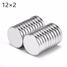 100 шт. 12 мм x 2 мм 12X2 супер сильные круглые дисковые Редкоземельные неодимовые магниты 12*2 новые художественные соединения 12 мм* 2 мм
