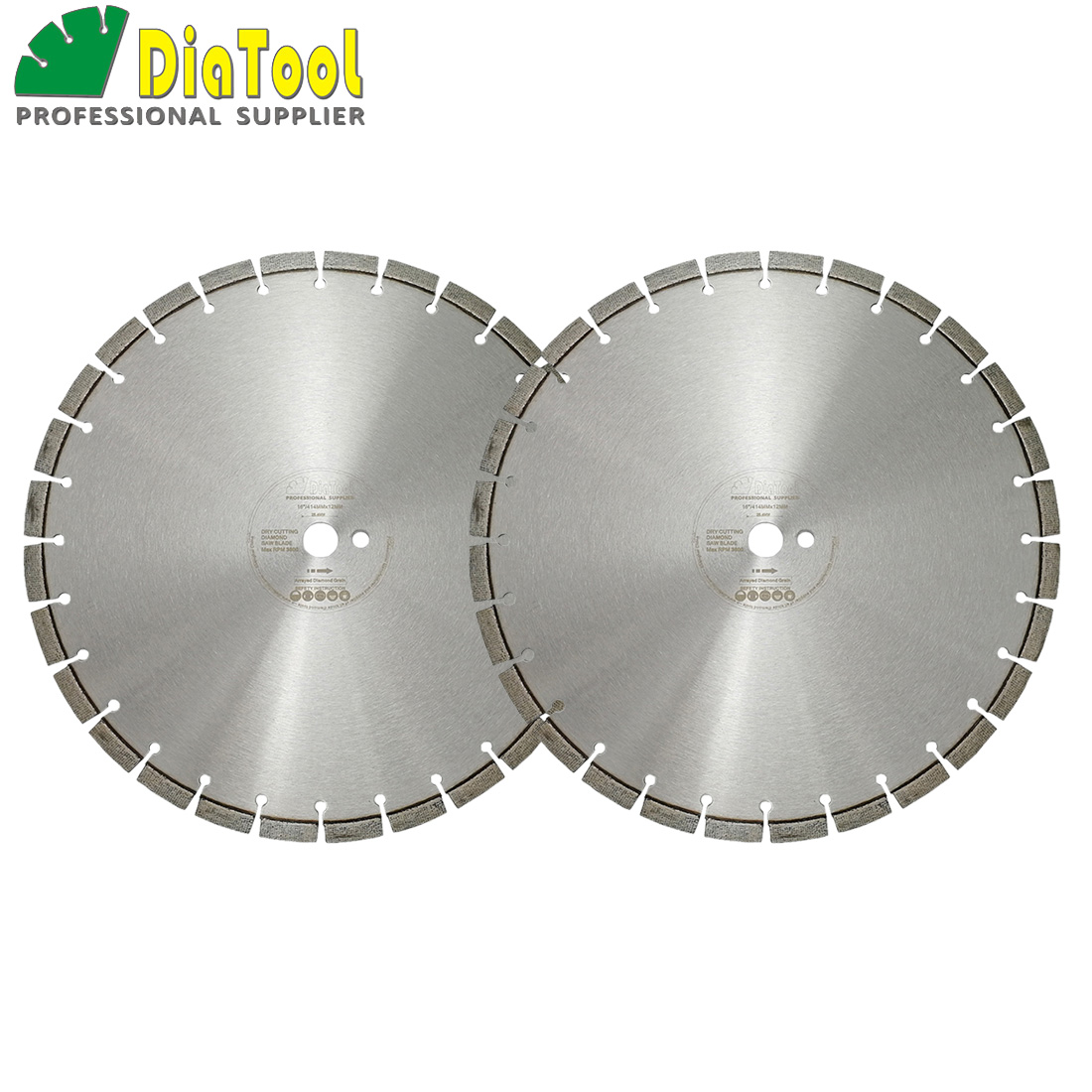 DIATOOL 2pcs 16 inch Laser Welded Arrayed Diamond Blade Cutting Disc Saw blades Dia 414mm Reinforced Concrete Diamond Wheel DiskDIATOOL 2pcs 16 inch Laser Welded Arrayed Diamond Blade Cutting Disc Saw blades Dia 414mm Reinforced Concrete Diamond Wheel Disk