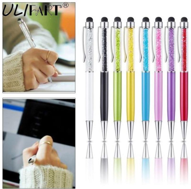 ULIFART univerzális kristály toll érintőbetét toll 2 1 BallPoint tollal mobiltelefonhoz IPad IPAD Samsung tabletta