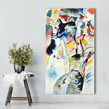 лучшая цена Wassily Kandinsky Abstract Canvas Art Wall Pictures For Living Room Modern Painting Untitled Home Decor