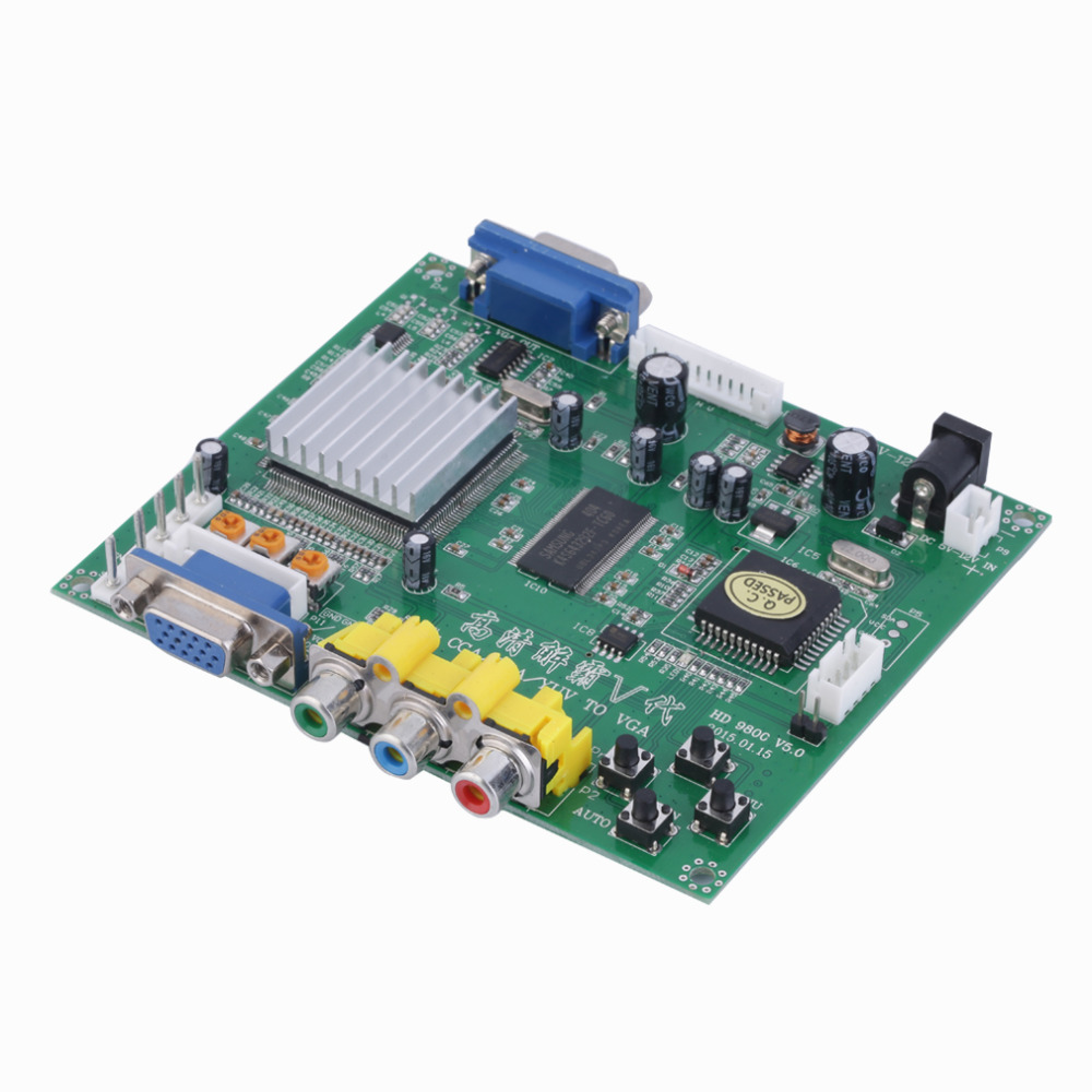 1 Set New RGB CGA EGA YUV to VGA HD Video Converter Board Moudle HD9800 GBS8200 in VGA Cables from Consumer Electronics