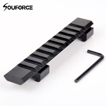 "11mm Aluminium Alloy Picatinny Weaver Rail Mount 10 Slots ""124mm Mount Untuk Rifle Scope Memburu Aksesori Gun"
