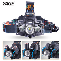 YAGE Rechargeable Led Head Lamp Lights Headlamp Forehead Flashlight Head Light Led Lintern Touch Fishing Lanterna