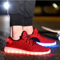 quality 8 Colors Men Women yeezy LED Shoes Summer Growing Shoes for Adults Luminous light up Casual Shoes Breathable Superstar