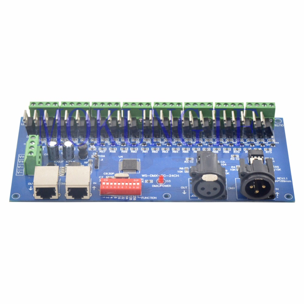 Fast shipping 3pcs Common cathode DMX constant voltage decoder;WS-DMX-CC-24CH DC12-24V input;24CH*1A output(R+G+B+V-) 100 pcs ld 3361ag 3 digit 0 36 green 7 segment led display common cathode