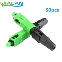 цена на 50pcs SC APC Fast Connector Embedded Connector FTTH Tool Cold Fiber Fast Connector SC Fiber Optic Connector
