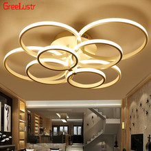 Modern led ceiling Chandelier lights Remote Led Acrylic Rings Chandeliers Plafon for living room lighting fixtures Ceiling Lamp ceiling lights mw light 280011611 lighting chandeliers lamp