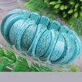 "Free Shipping Fashion Jewelry  Blue Stretch Turquoise Bracelet 8"" 1Pcs H555"