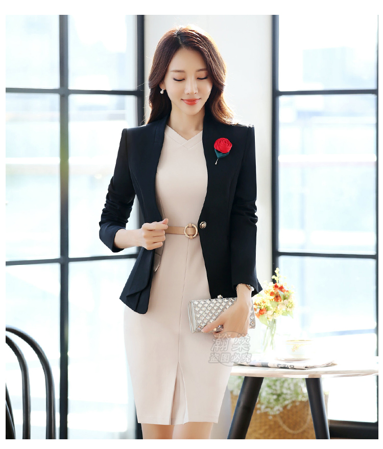 2018 Spring And Autumn Hot Ladies Dress Suit For Work Full Sleeve