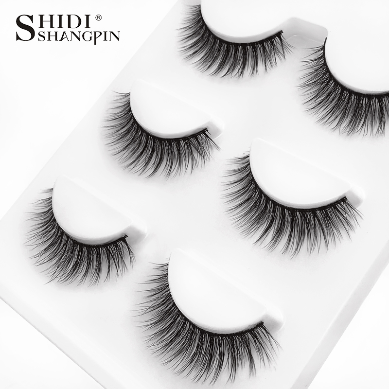 HTB1ukVkXOzxK1RjSspjq6AS.pXaO SHIDISHANGPIN 3 pairs mink eyelashes natural fake eye lashes make up handmade 3d mink lashes false lash volume eyelash extension