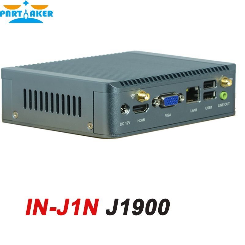 Fanless Mini Nano ITX Industrial PC Case with Celeron Quad Core J1900 IN-J1N 4G RAM only hcipc itx hcms3j19 celeron j1900 quad core nano itx motherboard embedded mainboard