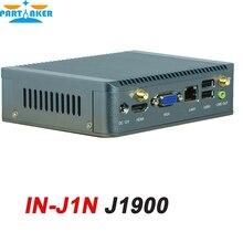 Безвентиляторный Мини Nano ITX Промышленного PC Чехол с Celeron Quad Core J1900 IN-J1N 4 Г ПАМЯТИ только