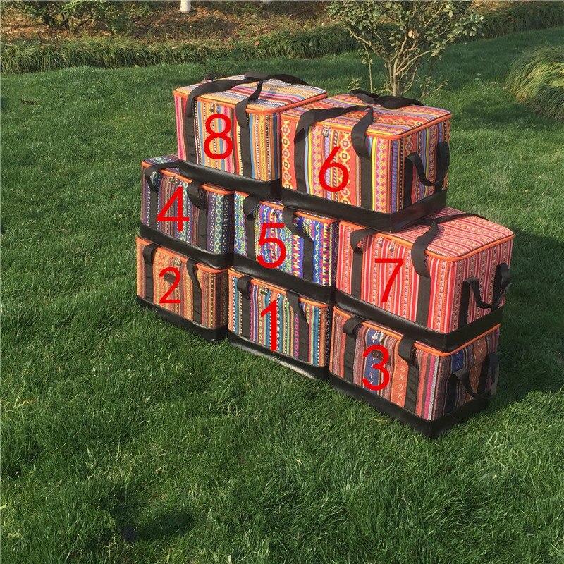 VILEAD Portable Multi Color Camping Outdoor Multi-Function Picnic Bag Storage Box National Pattern Picnic Basket 40*30*28cm uwinka mc u6c multi in 1 water resistance shockproof memory card storage box red
