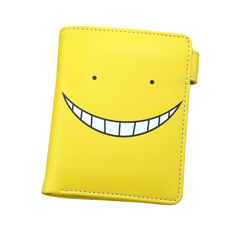 JP Anime Assassination Classroom Purse Colorful Button Wallet Printed with Korosensei