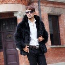 KERUISHU Winter New Men's Luxury Faux Fur Coat High Quality Male Long Leather Fur Jacket Man Loose Imitation Furs Hooded Coat K5