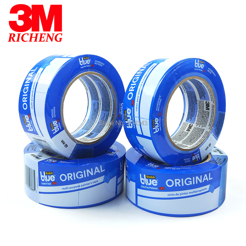 синий скотч для авто - Masking Tape Car Painting 3M 2090 Blue/Crepe Paper Material1.88*60yds(48mm*54.8m)/10pcs/lot