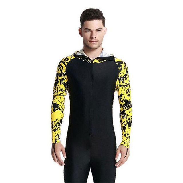 b1375e4ee5 3XL 4XL Large Size Full Body Swimsuits Long Sleeve Wetsuit Winter  Windsurfing Men Surf Clothing Diving Suit One-piece Swimwear