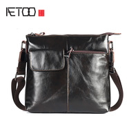 AETOO The new business men 's bag of vertical men' s Messenger bag leather bag leather casual shoulder bag
