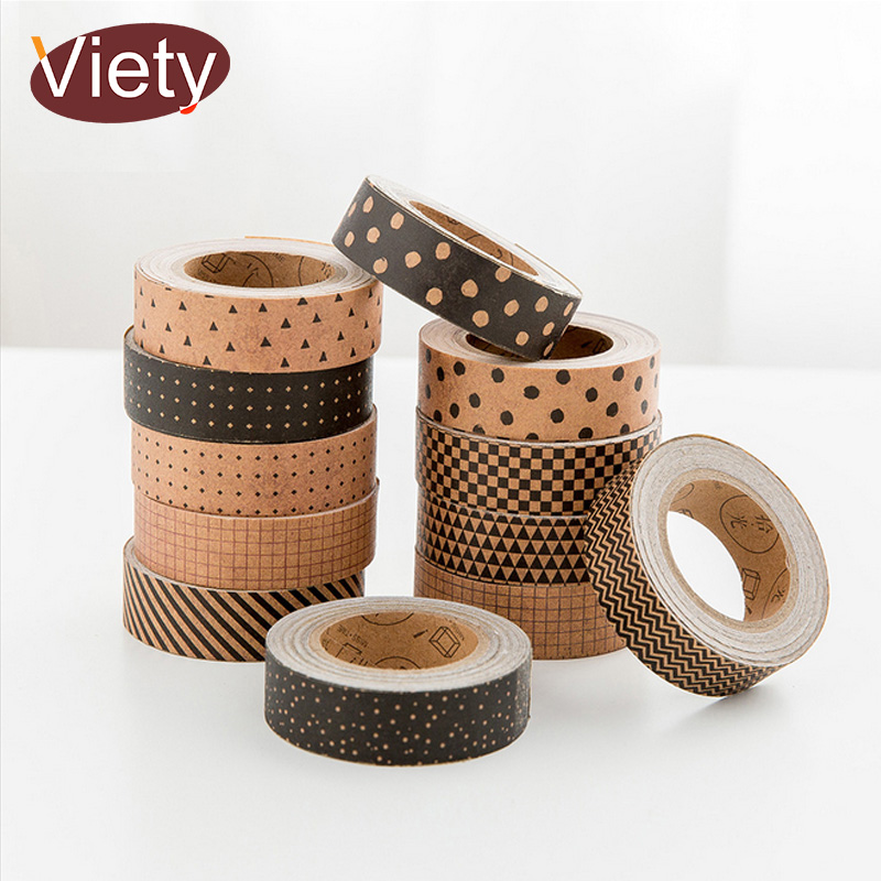 1.5cm*5m Vintage dot striation grid washi tape diy decoration for scrapbooking masking t ...